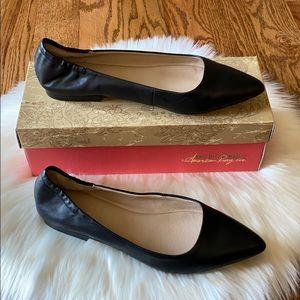 American Rag Black Jilly Leather Flats size 9.5 M